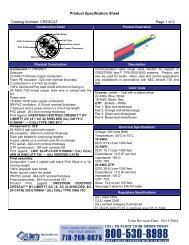 Product Specification Sheet Catalog Number: CRESCAT Page 1 of ...