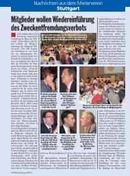Stuttgart - Deutscher Mieterbund
