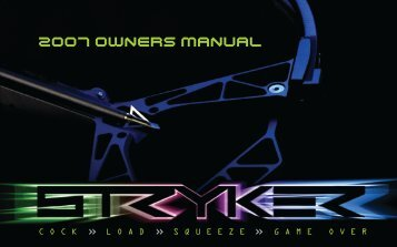 2007 OWNERS MANUAL - Stryker