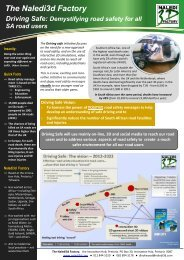 Driving Saafe: Demystifying road safety for all SA ... - Naledi3d Factory