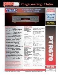 PP TT RR 66 77 00 PP TT RR 66 77 00 - Paso Sound Products