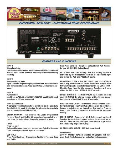 Paso Catalogue - Paso Sound Products