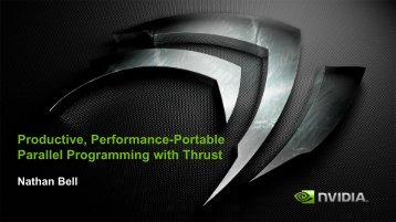 Productive, Performance-Portable Parallel Programming with Thrust