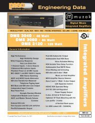 DMS Integrated Amplifiers - Paso Sound Products