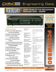 pcdrw880 - Paso Sound Products