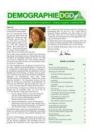 Mitteilungen der DGD Nr. 12 (September 2007) - Deutsche ...