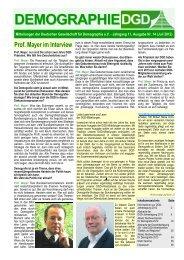 Mitteilungen der DGD Nr. 14 (Juli 2012) - Deutsche Gesellschaft für ...