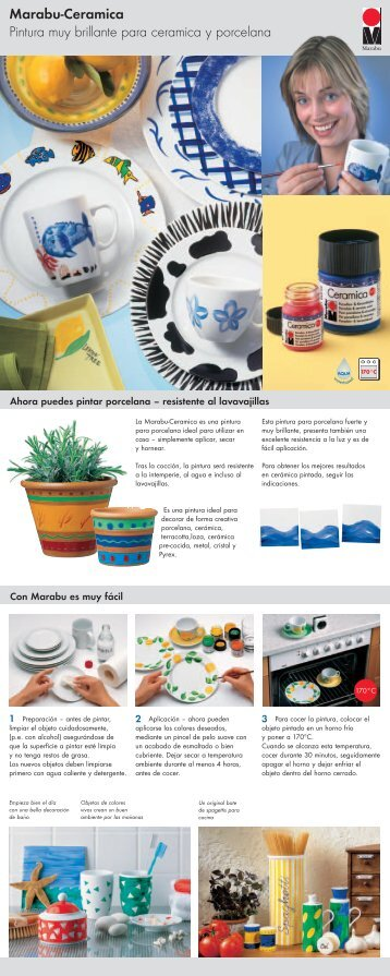 Marabu-Ceramica Pintura muy brillante para ceramica y porcelana
