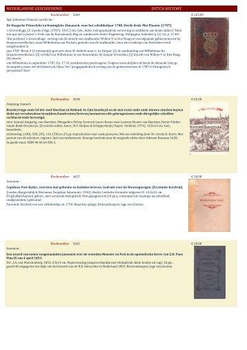 NEDERLANDSE GESCHIEDENIS DUTCH HISTORY