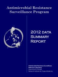 2012 ARSP Annual Progress Report - Research Institute for Tropical ...