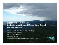 Eight Years of TRMM Data - Colorado State University