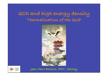 QCD and high energy density - RNC