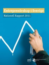 Entreprenörskap i Sverige 2010 - Entreprenörskapsforum