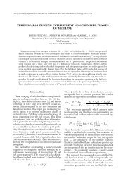 Three-Scalar Imaging in Turbulent Flames - Yale University