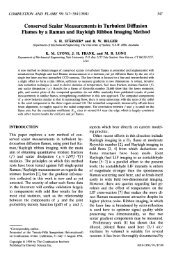 Conserved Scalar Measurements in Turbulent ... - Yale University