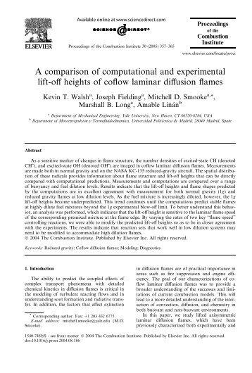 A comparison of computational and experimental ... - Yale University