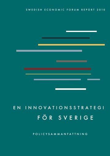 Swedish Economic Forum Report 2010 - Entreprenörskapsforum