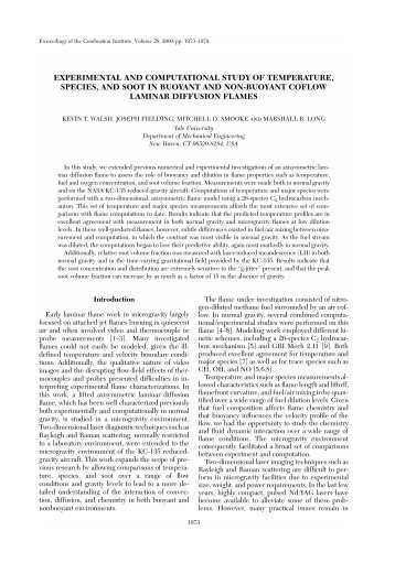Experimental and Computational Study of ... - Yale University