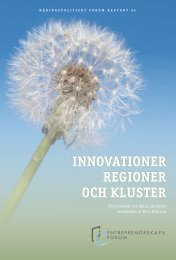 Innovationer, regioner och kluster - Entreprenörskapsforum