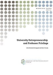 University Entrepreneurship and Professor Privilege