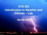 ATS 351 Introduction to Weather and Climate – Lab