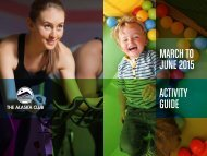 MARCH TO JUNE 2015 ACTIVITY GUIDE