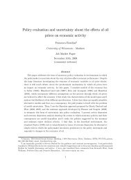 Policy evaluation and uncertainty about the effects of oil prices on ...