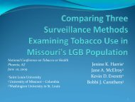 Comparing Three Surveillance Methods Examining Tobacco Use in ...