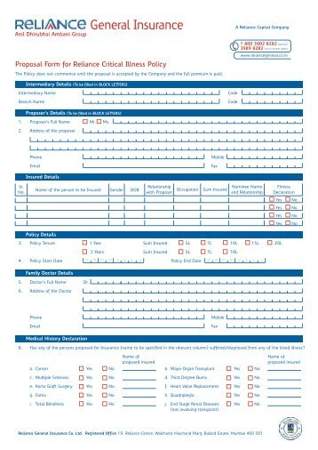 Star Comprehensive Proposal Form 21-07.cdr - Star Health Insurance