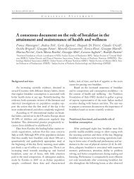 A consensus document  on the role of breakfast in the ... - Ceereal