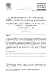 An empirical analysis of the social security disability application ...
