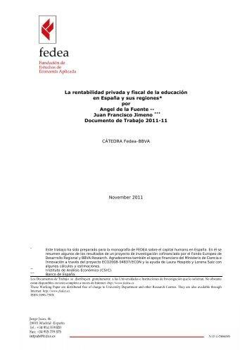 La rentabilidad privada y fiscal de la educación en España y sus ...