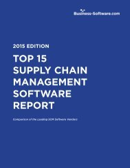 TOP 15 SUPPLY CHAIN MANAGEMENT SOFTWARE