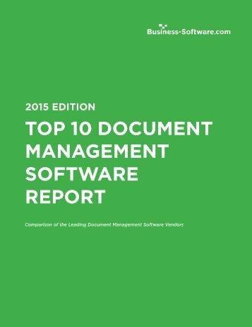 Top 10 Document Management Software Comparison
