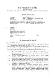 Příloha č. 3.1 - Návrh smlouvy o dílo (21/06 ... - Město Česká Lípa
