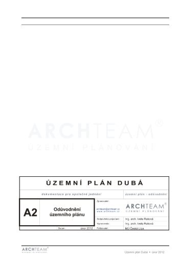 Územní plán Dubá únor 2012 - Město Česká Lípa