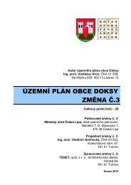 ÚZEMNÍ PLÁN OBCE DOKSY ZMĚNA Č.3 - Město Česká Lípa