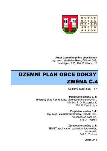 Návrh změny č. 4 ÚPO Doksy - Město Česká Lípa