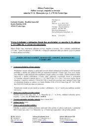 Dodatek č. 1 - Výzva k jednání v JŘBÚ (19/03 ... - Město Česká Lípa