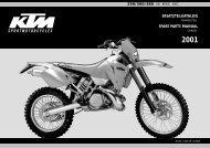ersatzteilkatalog spare parts manual 250/300/380 sx mxc exc
