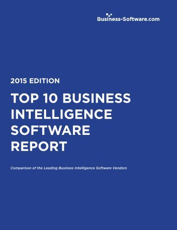 TOP 10 BUSINESS INTELLIGENCE SOFTWARE REPORT