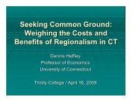 Seeking Common Ground: Weighing the Costs ... - HartfordInfo.org