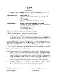 priloha Johnson Controls - Dodatek c. 1.pdf - Město Česká Lípa