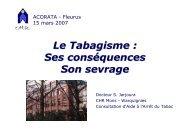 Le Tabagisme : Ses conséquences Son sevrage - Les Jeudis de ...