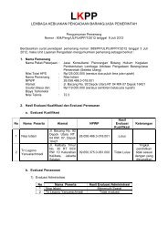 lembaga kebijakan pengadaan barang/jasa pemerintah - LKPP