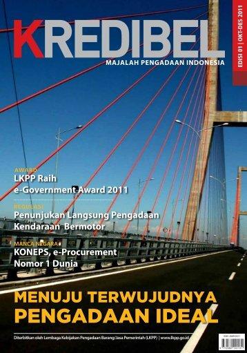 majalah kredibel edisi-01-2011 - LKPP