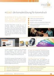 m|card- die komplettlösung für kartendruck 1 - Mobit AG