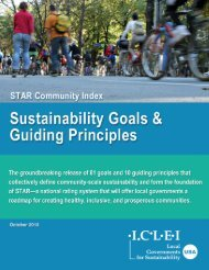 STAR Community Index: Sustainability Goals and Guiding Principles