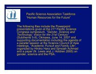 Gender, Science and Technology - Pacific Science Association