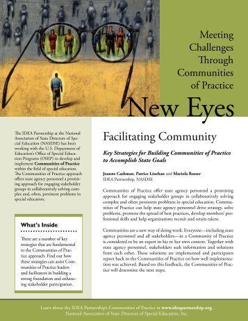 Facilitating Community: Key Strategies for ... - IDEA Partnership
